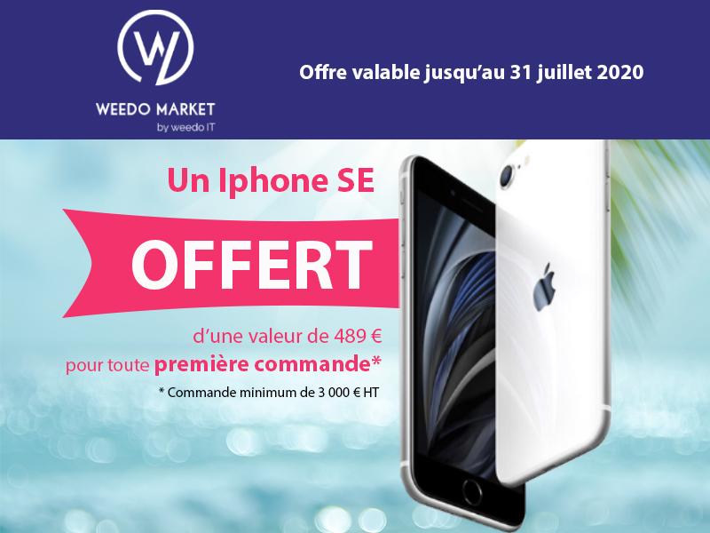 Un IPhone SE à gagner avec Weedo Market
