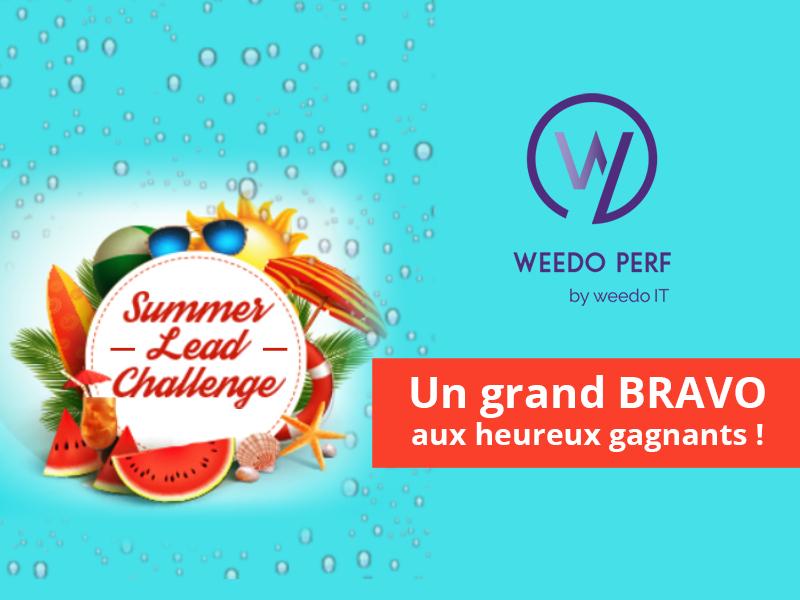 Summer lead challenge – Un grand BRAVO aux heureux gagnants