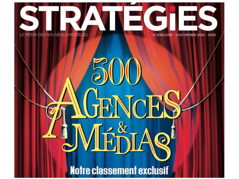 Weedo IT référencé dans le top 500 des agences et médias par Stratégies