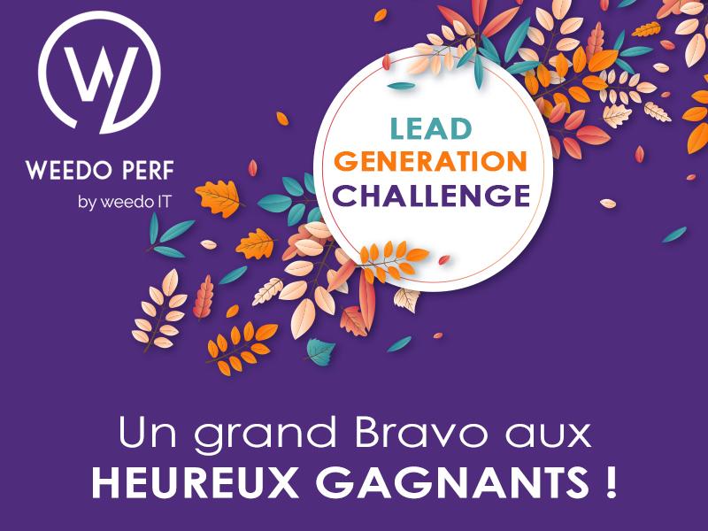 Lead generation challenge – Un grand BRAVO aux heureux gagnants