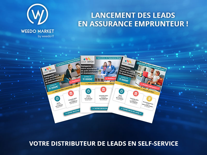 Weedo Market – Lancement des leads en assurance emprunteur !