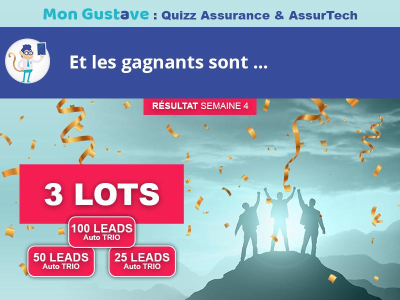 Jeu-concours Mon Gustave : Résultat semaine n°4