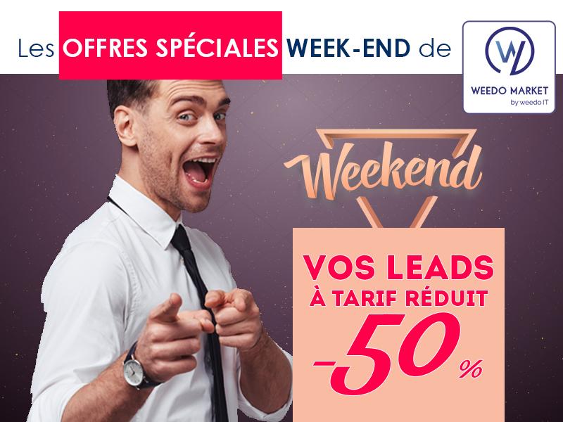 Vos leads à tarif réduit, ce week-end avec Weedo Market