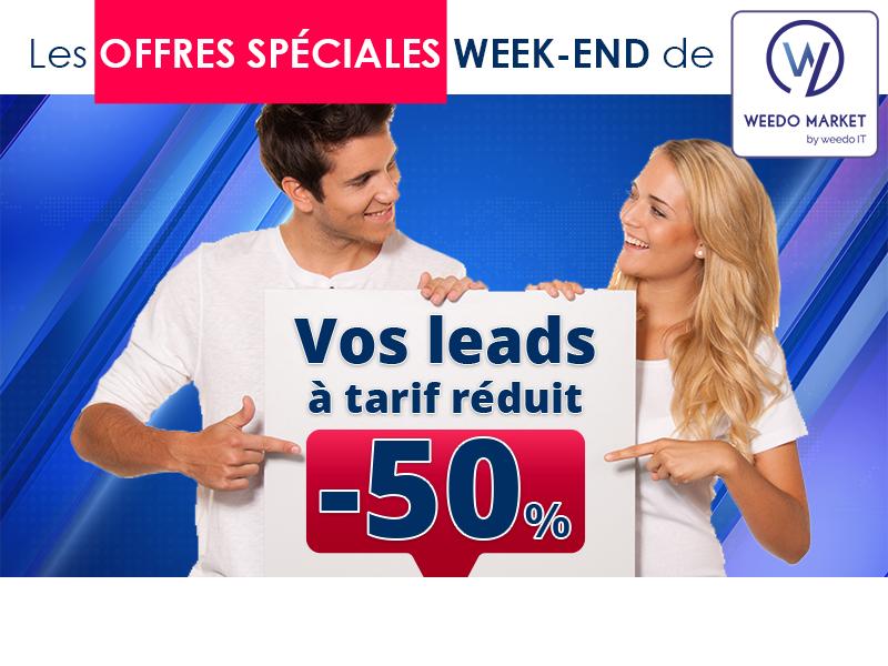 Offres du week-end Weedo Market : vos leads à -50% !