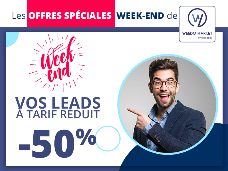 Profitez des offres du week-end Weedo Market!