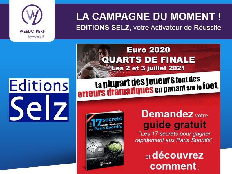 Editions Selz, la campagne du moment de Weedo PERF