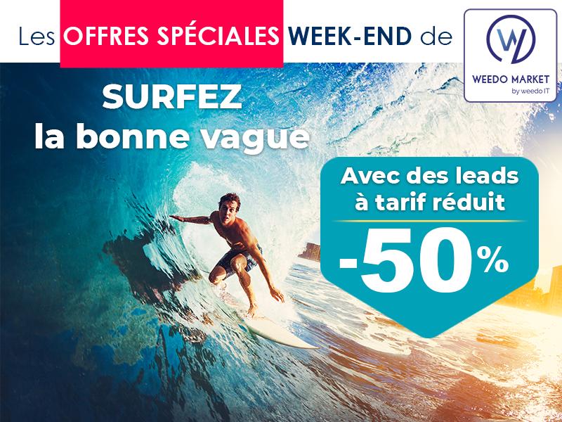 Surfez la bonne vague, profitez des offres Weedo Market !
