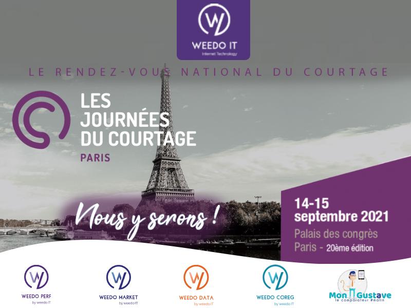 Retrouvez Weedo IT le 14 et 15 septembre 2021, aux Journées du courtage à Paris