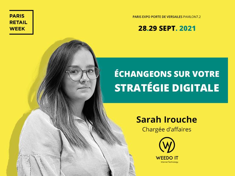 Retrouvez Weedo IT le 28 et 29 septembre 2021, au Paris Retail week